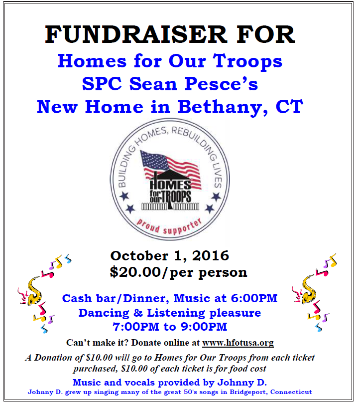 Homes for Our Troops Fundraiser | Elks 360 New London CT