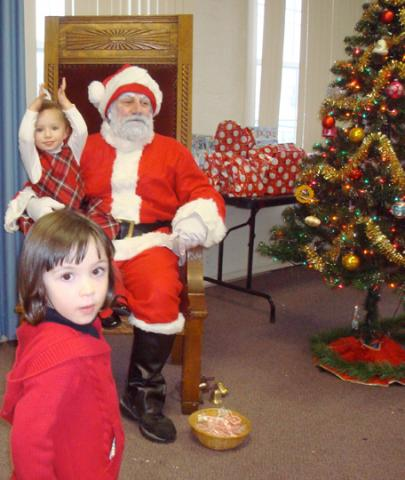 Santa with kids 2009